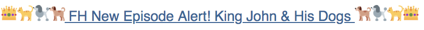 Screenshot of an emoji-filled subject line from Footnoting History's newsletter